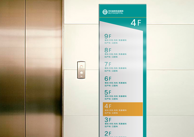 武邑县医院环境导示-智狐品牌设计,医院vi设计,医院图片